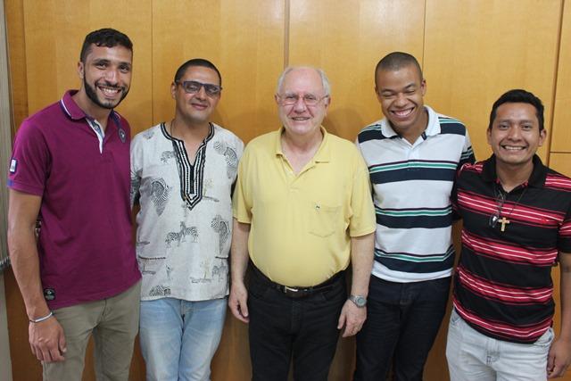 Diego, Abel, Pe. Aquileo, thiago e Inácio