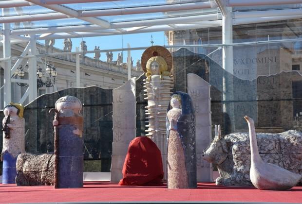 Presépio Monumental de Castelli, Teramo, na Praça São Pedro em Roma.